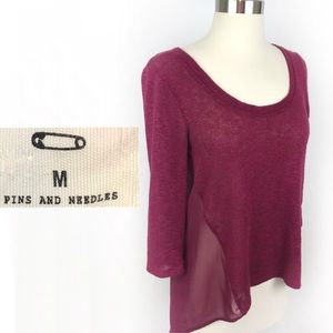 Pins And Needles Hi-Lo Sweater Urban Outfitters